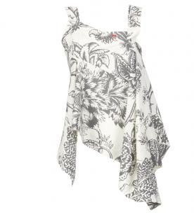 Vivienne Westwood calico triangle top 6/8