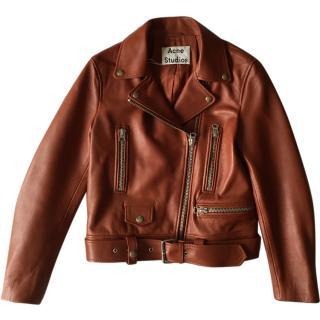 Acne Studio Leather Mock Jacket