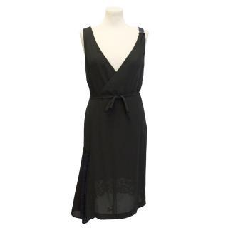 Paul Smith black dress with blue lace panels