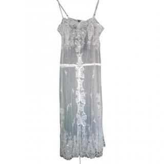 Ralph Lauren  Beaded Lace Duster Dress NEW