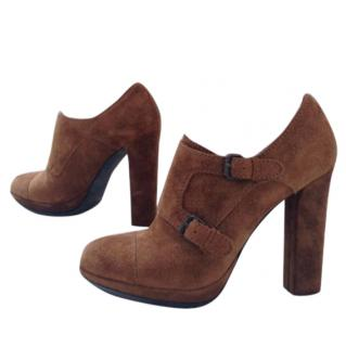 Lanvin brown suede ankle boots