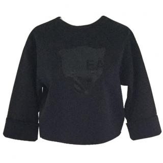 Emporio Armani panther motif  top
