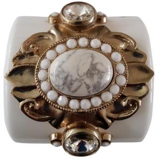 EMILIO PUCCI Plexiglass & Crystal Cuff Bracelet