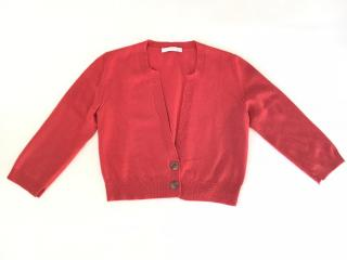 Fabiana Filippi red round neck wool mix cardigan