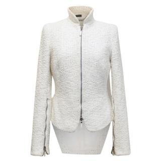 Alexander McQueen cream tweed tail blazer