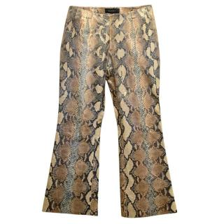 Gucci Python skin flare trousers