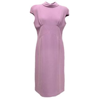 Bottega Veneta Lilac pencil dress with turtle roll neck