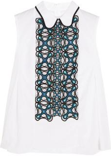 Peter Pilotto Atom embroidered cotton-poplin shirt