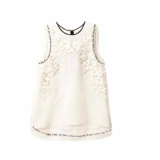 Erdem Lucille embroidered organza blouse  brand new with tags