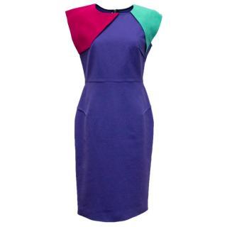 Roland Mouret Cobalt blue paneled dress