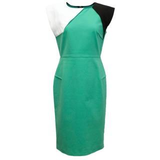 Roland Mouret mint green paneled dress
