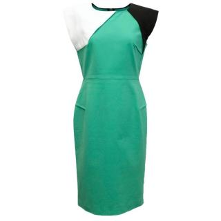 Roland Mouret mint green paneled dress