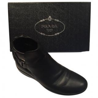 Prada men leather winter boots