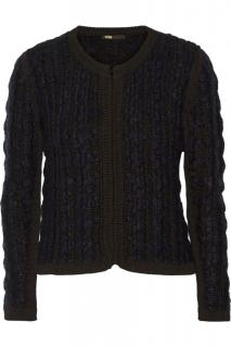 Maje Garcon jacket in blue and black