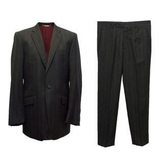 Dolce & Gabbana Black Striped Two Piece Suit