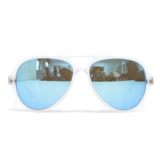Ray Ban 'CATS5000' Men's Blue Tinted Aviator Sunglasses