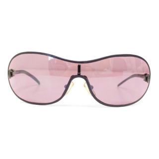 Trussardi sunglasses with purple leather arms