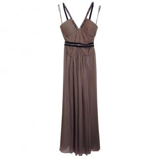 bcbg max azria long silk dress