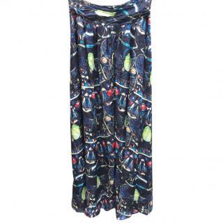 Issa beetle silk maxi skirt