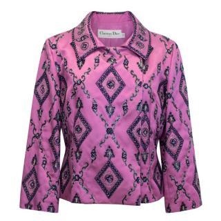 Christian Dior Pink Embellished Catwalk Blazer