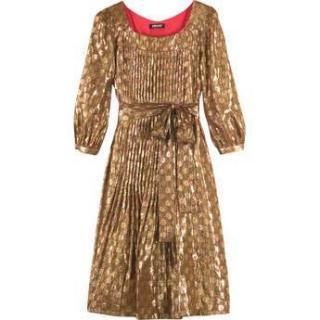 DKNY Gold Lame Dress
