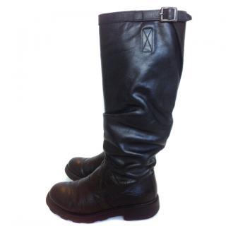 Dirk Bikkembergs leather biker boots