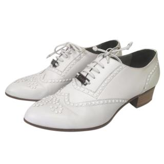 Karl Lagerfeld White Brogue style shoe Size 6