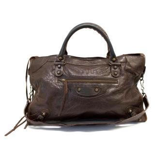 Balenciaga Brown City Bag