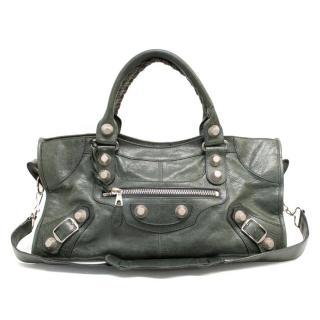Balenciaga Evergreen City Bag With Silver Hardware