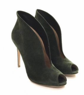 Gianvito Rossi Vamp Suede Ankle Boots in Military