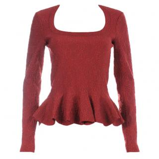 Alaia Sparkle Textured Knit Top