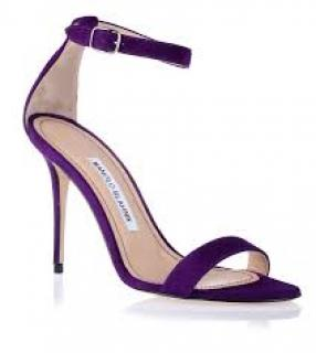 Manolo Blahnik Chaos 105 purples sandals