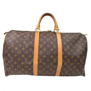 Louis Vuitton Boston Keepall 50 Monogram Travel Bag 10216