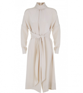 Tibi Silk Solman Sleeve Dress