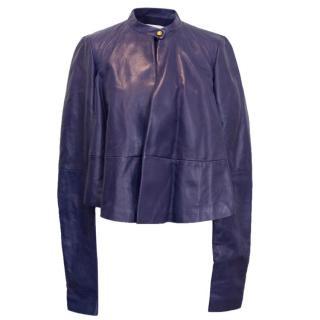 Vionnet Purple Leather Bomber