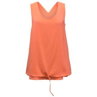 Chloe Orange Vest With Drawstring
