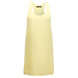 Balenciaga Silk Yellow Silk Square Embossed Tunic