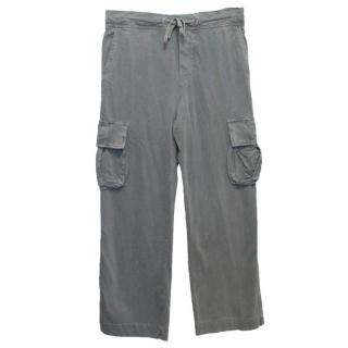 James Perse Light Khaki Distressed Trousers
