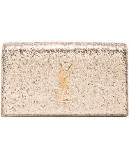 Saint Laurent Glitter Kate Monogram Clutch