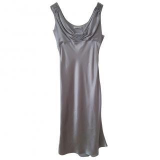 Christian Dior Silver Cocktail Dress
