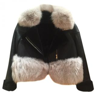 Unique Fox fur and leather jacket
