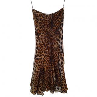 Christian Dior 3/4 leopard evening skirt