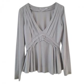 Christian Dior pale grey structured top