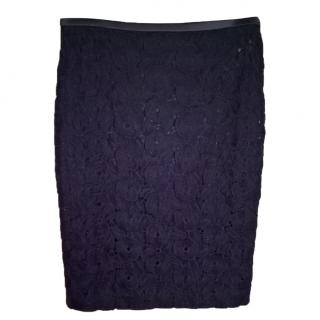 Marc Cain blue lace skirt