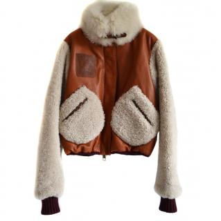 Hilfiger Collection runway shearling leather jacket