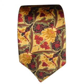 Liberty red and gold silk tie