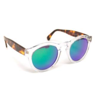 Illesteva 'Leonard' Tinted Round Sunglasses