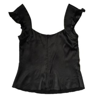 Silk black Armani top