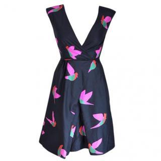 Marc Jacobs black printed silk dress