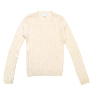 Marie Chantal Boys Cream Cashmere Jumper